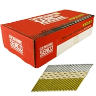 Senco 90 x 3.33 Galvanised Flat Head Nails Collated Strip Nails - 3000 Pack