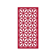 Protector Aluminium 900 x 1800mm ACP Profile 12 Decorative Panel Unframed - Dark Red