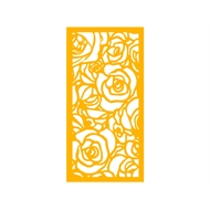 Protector Aluminium 1200 x 2400mm Profile 28 Decorative Panel Unframed - Dark Yellow