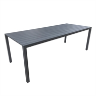 Mimosa 220 x 90cm Aluminium Lava 8 Seater Dining Table