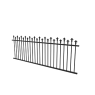 Protector Aluminium 2450 x 900mm Custom Hi-Lo Spear Top Fence Panel