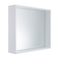 Cibo Design 600 x 600mm White Frame Mirror
