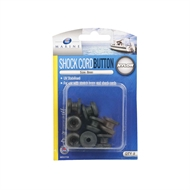 Zenith 8mm Black Shock Cord Button - 8 Pack