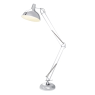 Verve Design 60W 1.8m Cord Saigon Chrome Floor Lamp