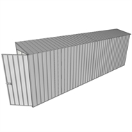 Build-a-Shed 0.8 x 6 x 2m Hinged Door Tunnel Shed - Zinc