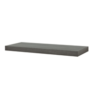 Flexi Storage 600 x 240 x 38mm Grey Oak Floating Shelf