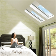 VELUX 1140 x 1180mm White Solar Blockout Blind