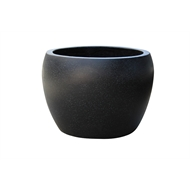 Northcote Pottery Medium Black Precinct Lite Terrazzo Moon Pot