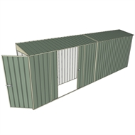 Build-a-Shed 0.8 x 6 x 2m Hinged Door Tunnel Shed with Double Sliding Side Doors - Green