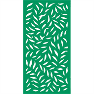Protector Aluminium 900 x 1800mm ACP Large Leaf Decorative Panel Unframed - Light Green