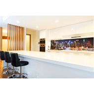 Bellessi 650 x 600 x 6mm Motiv Glass Graphic Splashback - Manhattan Night