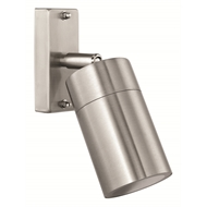Brilliant Coolum Stainless Steel Adjustable Exterior Wall Light
