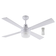 Mercator 120cm Kimberley Ceiling Fan White with Light and Remote