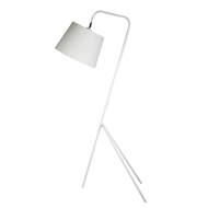 Home Design 150cm White Trio Floor Lamp