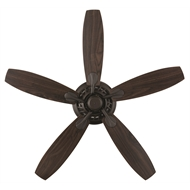 Brilliant 132cm Oil Rubbed Bronze 5 Blade AC Hampton Ceiling Fan
