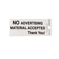 Sandleford 100 x 50mm No Advertising Silver Self Adhesive Sign