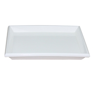 Northcote Pottery White 'Glazed Look' Square Saucer - 250mm