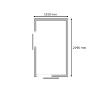 Build-a-Shed 1.5 x 3.0 x 2.3m Front Gable Dual Single Sliding Door Narrow Shed - Green