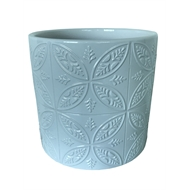 Eden 14 x 12.5cm White Moroccan Tile Indoor Ceramic Pot