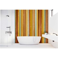 Bellessi 300 x 900 x 4mm Motiv Polymer Bathroom Panel - Allsorts Yellow