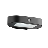 Verve Design Black Payton Solar Wall Light With Sensor