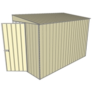 Build-a-Shed 1.5 x 3.0 x 2.0m Tunnel Shed Tunnel Hinged Door with No Side Doors - Cream