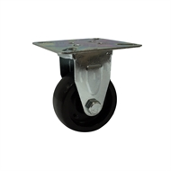 Move It 50mm 25kg Load Black Polypropylene Fixed Plate Castor