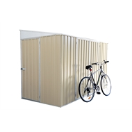 Garden Pro 3.00 x 1.52 x 2.08m Skillion Roof Three Door Bike Shed - Merino