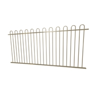 Protector Aluminium 2450 x 1200mm Loop Top Ulti-M8 Fence Panel - Paperbark