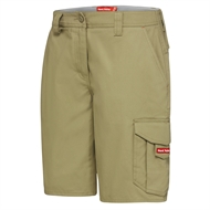 Hard Yakka Ladies Dobby Cargo Short - 14 Khaki