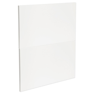 Kaboodle 600mm Gloss White Modern 2 Drawer Panels