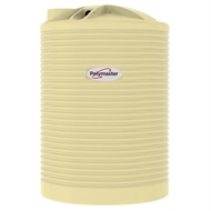 Polymaster 3360L Round Corrugated Poly Water Tank - Wheat