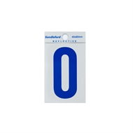 Sandleford 65mm Blue Reflective Self Adhesive Numeral 0