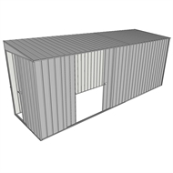 Build-a-Shed 1.5 x 5.2 x 2m Sliding Door Tunnel Shed with Double Sliding Side Doors - Zinc