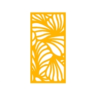 Protector Aluminium 900 x 1200mm ACP Profile 26 Decorative Panel Unframed - Dark Yellow