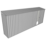 Build-a-Shed 0.8 x 5.2 x 2m Skillion Shed with Single Sliding Side Door - Zinc