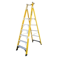 Ladder P/form F/glass Gorilla 1.8m Step 150kg Fpl006-i