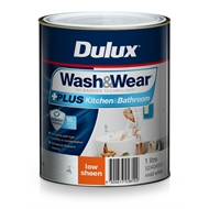 Dulux Wash&Wear 1L +Plus Kitchen & Bathroom Vivid White Low Sheen Paint