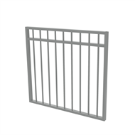 Protector Aluminium 975 x 900mm Double Top Rail All Up Garden Gate - To Suit Self Closing Hinges - Woodland Grey
