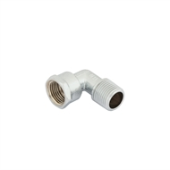 Kinetic 15mm Male / Female Chrome Plated Brass Elbow