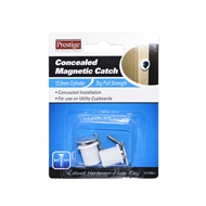 Prestige White Concealed Magnetic Catch - 2 Pack
