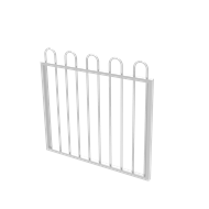 Protector Aluminium 975 x 900mm Loop Top Garden Gate - To Suit Self Closing Hinges - Pearl White