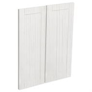 Kaboodle White Forest Country Corner Wall Cabinet Door - 2 Pack