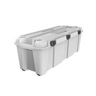 Ezy Storage 130L Bunker Heavy Duty Storage Tub White