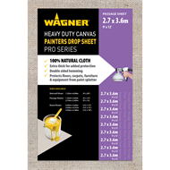 Wagner 3.65 x 2.74m Heavy Duty Canvas Drop Sheet