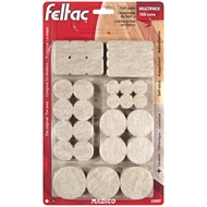 Madico 105 Piece Self-Stick Feltac Floor Savers Mulitpack