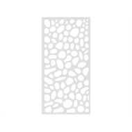 Protector Aluminium 900 x 1800mm ACP Riverstone Decorative Panel Unframed - Gloss White