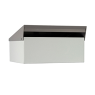 Sandleford 335 x 190 x 330mm White Post Mounted Condo Letterbox