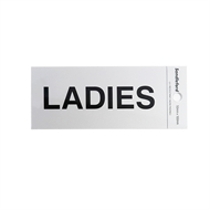 Sandleford 100 x 50mm Ladies Silver Self Adhesive Sign