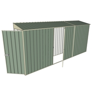 Build-a-Shed 0.8 x 4.5 x 2m Skillion Single Hinged Door Shed with Single Hinged Side Door - Green